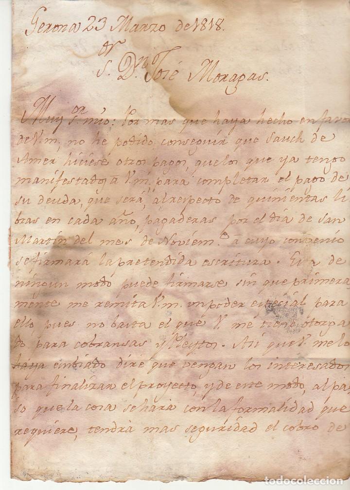 Sellos: GERONA a BARCELONA. 1818. - Foto 2 - 171795153