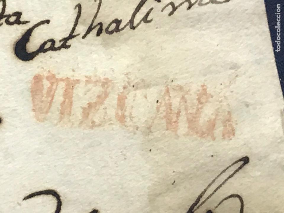 1803. SAN SEBASTIÁN A VALLADOLID. VIZCAYA COLOR ROJO. PREFILATELIA. (Filatelia - Sellos - Prefilatelia)