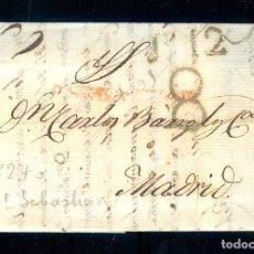 Sellos: NUMULITE P0128 CARTA PREFILATELIA 1827 SAN SEBASTIAN MADRID. Lote 172020517