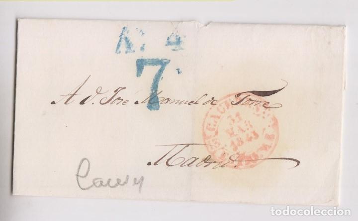 PREFILATELIA. ENVUELTA CÁCERES, EXTREMADURA. BAEZA. 1843 (Filatelia - Sellos - Prefilatelia)