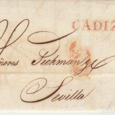 Sellos: CADIZ A SEVILLA . 1831.. Lote 172780838