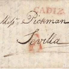Sellos: CADIZ A SEVILLA . 1832.. Lote 172781153