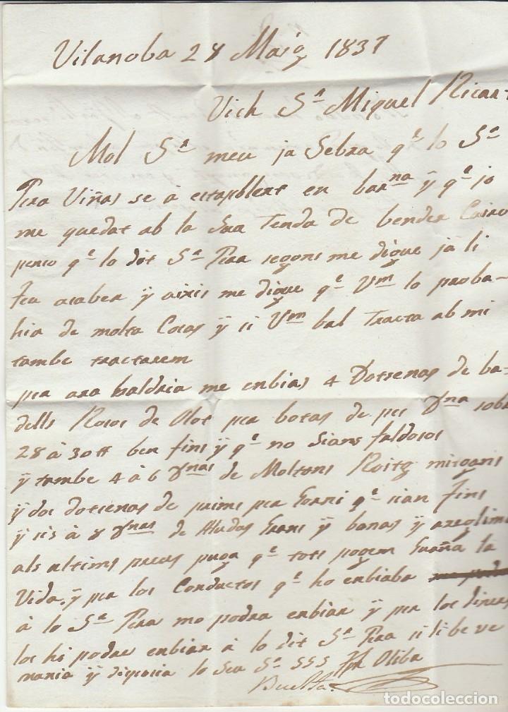 Sellos: VILANOVA a VICH. 1831. - Foto 2 - 173242857