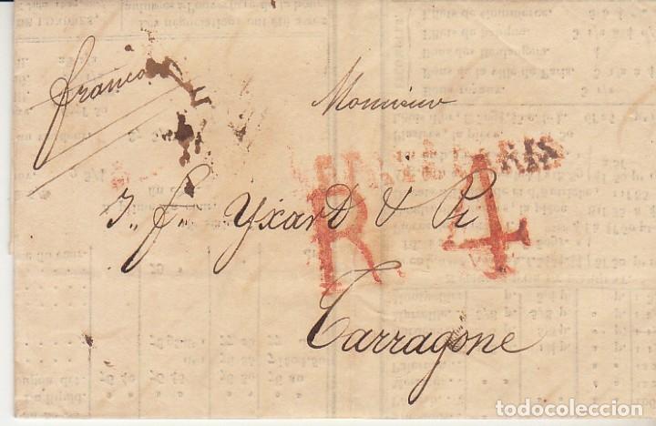 PARIS A TARRAGONA. 1827. (Filatelia - Sellos - Prefilatelia)