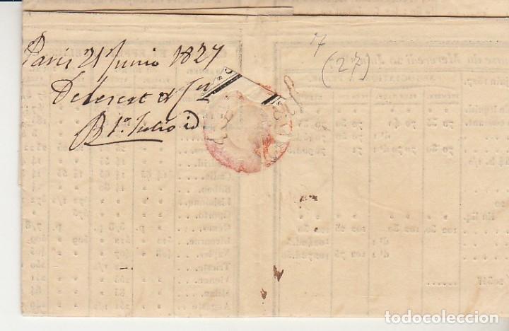 Sellos: PARIS a TARRAGONA. 1827. - Foto 2 - 173245089
