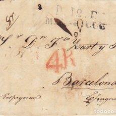 Sellos: MARSELLA A BARCELONA. 1827.. Lote 173399692