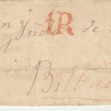 Sellos: TOLOSA A BILBAO . 1851.. Lote 173401145