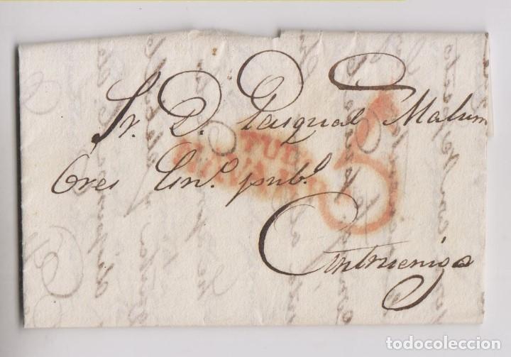 PREFILATELIA. CARTA ENTERA. TUDELA, NAVARRA. ESCRITA EN PAMPLONA. 1842 (Filatelia - Sellos - Prefilatelia)