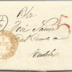 Sellos: ESPAÑA.PREFILATELIA CARTA DIRIGIDA DE VILLAFRANCA A TUDELA EN 1845. Lote 173964129