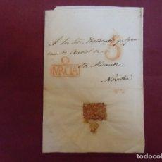 Sellos: ENVUELTA CARTA PREFILATELICA DIRIGIDA A NOVELDA.MARCAS EN ROJO MURCIA Y PORTEO 5.. Lote 174429587