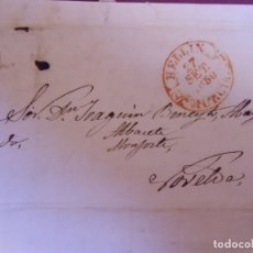 Sellos: 1850.CARTA PREFILATELICA HELLIN/NOVELDA.BAEZA HELLIN/MURCIA.. Lote 174432078