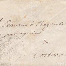 Sellos: SOBRE DIRIGIDO AL ECÓNOMO DE CORBERA -TARRAGONA- CON SELLO DE LA DIÓCESIS DE TORTOSA. Lote 175340745