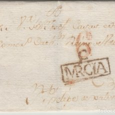 Sellos: MURCIA - CARAVACA AÑO 1804 PORTEO 6 -- ENVUELTA DE CARTA PREFILATELIA D.P Nº 21. Lote 175432090