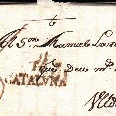 Sellos: PREFILATELIA -CARTA COMPLETA DE BENISSANET -TARRAGONA- CON MARCA DE TORTOSA NUM 5 A ULLDECONA -1797. Lote 175446728