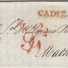 Sellos: CADIZ / MADRID . AÑO 1832 - CARTA PREFILATELIA D.P Nº 26. Lote 175485888