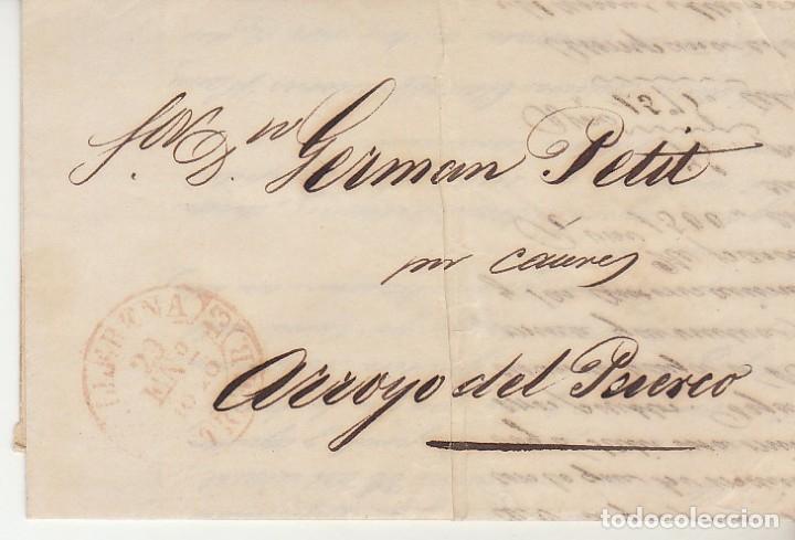 LLERENA A ARROYO DEL PUERCO. 1846 (Filatelia - Sellos - Prefilatelia)