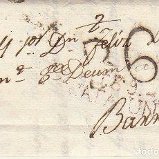 Sellos: TARRAGONA A BARCELONA . 1818.. Lote 175504647