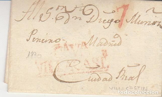 VILLACASTIN A CIUDAD REAL.1830. (Filatelia - Sellos - Prefilatelia)