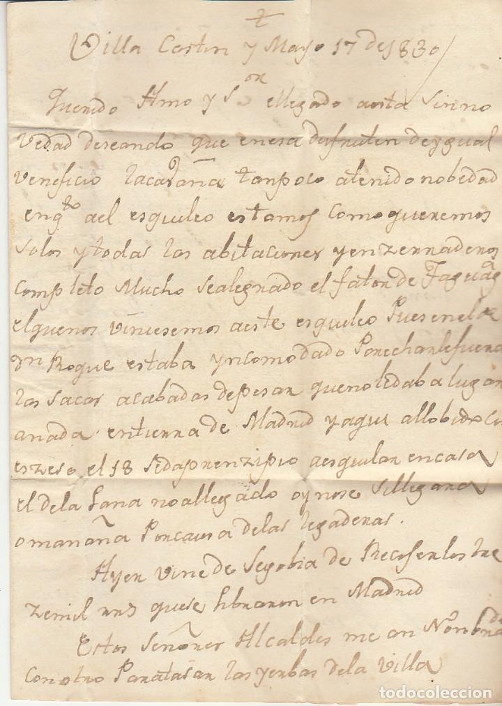 Sellos: VILLACASTIN a CIUDAD REAL.1830. - Foto 2 - 175504809