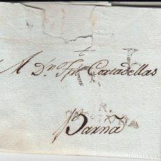 Sellos: PREFILATELIA CARTA COMPLETA DE MAURICI MEIX DE REUS MARCA NUM 5 -179 A BARCELONA. Lote 175682943