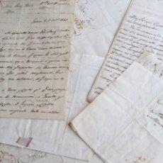 Sellos: LOTE DE 7 CARTAS ANTIGUAS MANUSCRITAS DIRIGIDAS A ISIDRO PEREZ FLORIA - PREFILATELIA. Lote 175702997