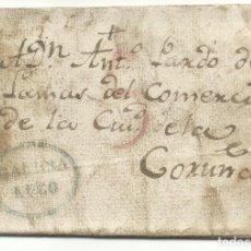Sellos: PREFILATELIA GALICIA 1827 CARTA COMPLETA A LA CORUÑA. Lote 175811415