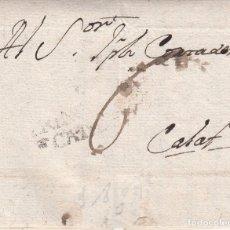 Sellos: PREFILATELIA CARTA COMPLETA DE CASTILLÓ DE TOR CON MARCA NUM. 2 DE TREMP 1793 DESTINO CALAF. Lote 175853084