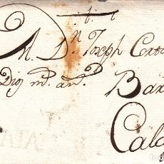 Timbres: PREFILATELIA CARTA COMPLETA DE ISIDRO SOLER DE ULLDECONA CON MARCA NUM 4 DE TORTOSA 1788. Lote 175859720