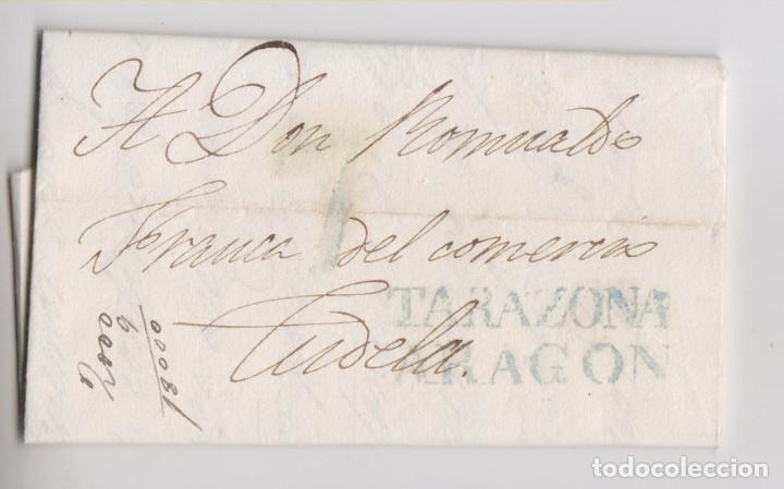 PREFILATELIA. TARAZONA, ZARAGOZA, A TUDELA, NAVARRA. 1840 (Filatelia - Sellos - Prefilatelia)