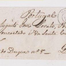 Sellos: BONITO SOBRE MECÁNICO. MADRID A PORTUGAL. RUEDA AL DORSO. 1864. PORTEO 45 REIS. Lote 176602724