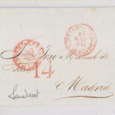 Sellos: PREFILATELIA. ENVUELTA SANTANDER A MADRID. 1843. CANTABRIA. Lote 176969815