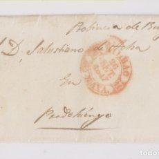 Sellos: PREFILATELIA. ENVUELTA. BILBAO, VIZCAYA, A PRADOLUENGO, BURGOS. 1847. PAÍS VASCO. Lote 177068443