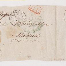 Sellos: PREFILATELIA. FRONTAL PARÍS A MADRID. 1843. BONITOS BAEZA Y PORTEO. . Lote 178734638