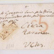 Sellos: PREFILATELIA. CARTA ENTERA. CARAVACA, MURCIA. 1801. UCLÉS. Lote 178736476