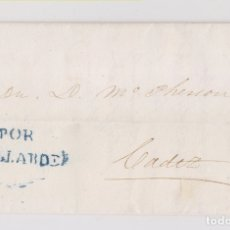 Sellos: PREFILATELIA. COSARIO BALLARDE. PUERTO DE SANTA MARÍA A CÁDIZ. 1857. Lote 178737023