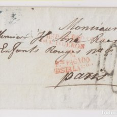 Sellos: PREFILATELIA. ENVUELTA. MADRID A PARÍS. PORTE PAGADO. 1837. Lote 179048821