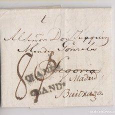 Sellos: PREFILATELIA. RARA CARTA ENTERA. AMSTERDAM, 1796. A BUITRAGO. MARCA OLANDA. Lote 179052341