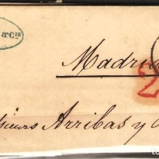 Sellos: CARTA PREFILATELICA 1850 COMPLETA DE PARIS A MADRID. Lote 180224958