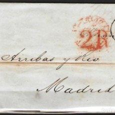 Sellos: CARTA PREFILATELICA 1850 COMPLETA DE PARIS A MADRID. Lote 180225083