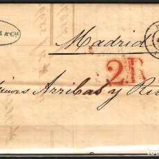 Sellos: CARTA PREFILATELICA 1850 COMPLETA DE PARIS A MADRID. Lote 180225151