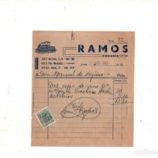Sellos: COSARIO. RAMOS. JEREZ, CADIZ, SEVILLA. 1943.. Lote 180315212