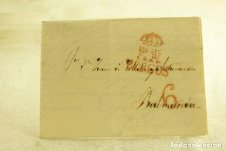BURGOS 1833 CARTA COMPLETA Y BUEN ESTADO (Filatelia - Sellos - Prefilatelia)