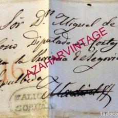Sellos: 1839, CARTA COMPLETA DIRIGIDA DESDE LA HABANA A SEPULVEDA, MARCA DE LA CORUÑA, MUY RARA. Lote 181415000
