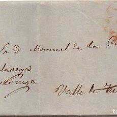 Sellos: 1854, CARTA DESDE SANTANDER A VALLE DE TUDANCA, MARCA LLEGADA CABEZON DE LA SAL, MUY RARA. Lote 181567340