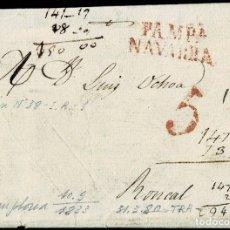 Timbres: 1833. PAMPLONA A RONCAL. MARCA PAMPA/NAVARRA ROJO. PORTEO 5 CUARTOS. BONITA.. Lote 181569520
