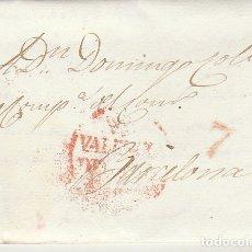 Sellos: VALENCIA A BARCELONA. 1832. Lote 181902232
