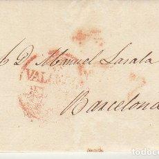 Sellos: VALENCIA A BARCELONA. 1832. Lote 181902938