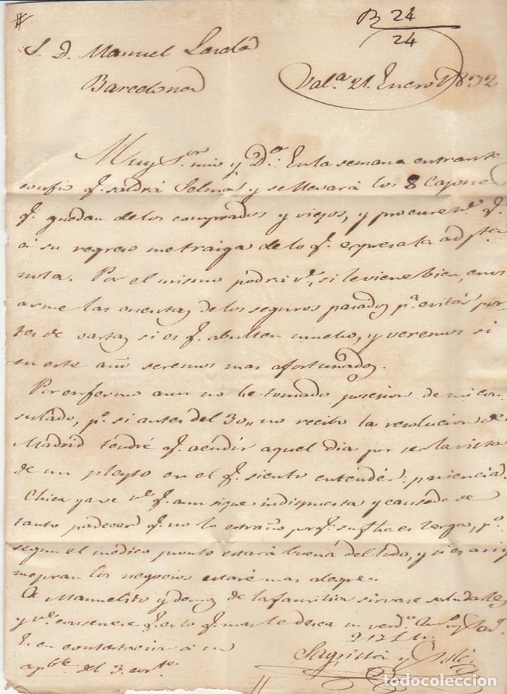 Sellos: VALENCIA a BARCELONA. 1832 - Foto 3 - 181902938
