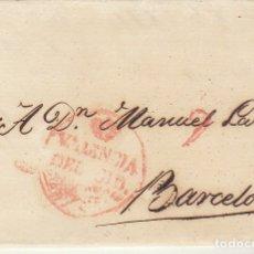 Sellos: VALENCIA A BARCELONA. 1828. Lote 182000857