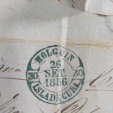Sellos: SELLO HOLGUIN ISLA DE CUBA 1856 SELLO 1/2 REAL PLATA ISABEL II. Lote 182048878